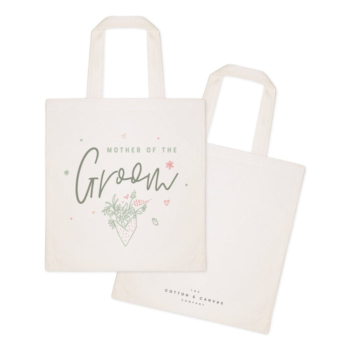 Floral Mother of the Groom Wedding Cotton Canvas Tote Bag