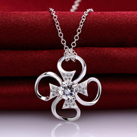 Angers Necklace in 18K White Gold Plated made with Swarovski Crystals-thumbnail