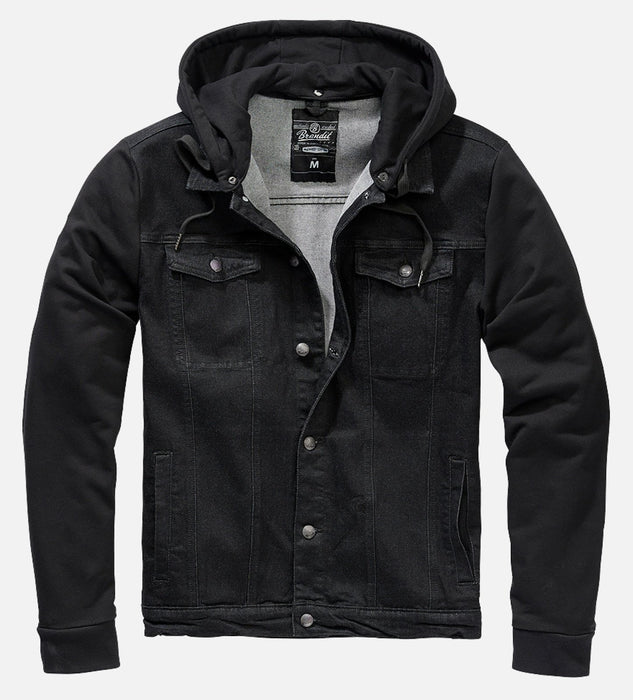 Cradock All Black Denim Sweat Jacket