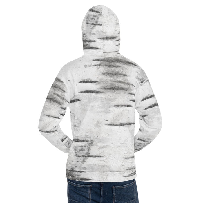 Unisex Abstract White Hoodie