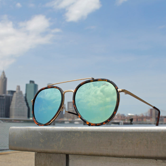 Jase New York Stark Sunglasses in Havana