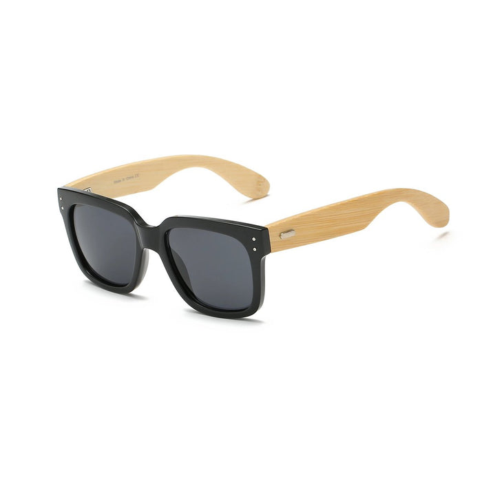 Black Wooden Wayfarer Glasses