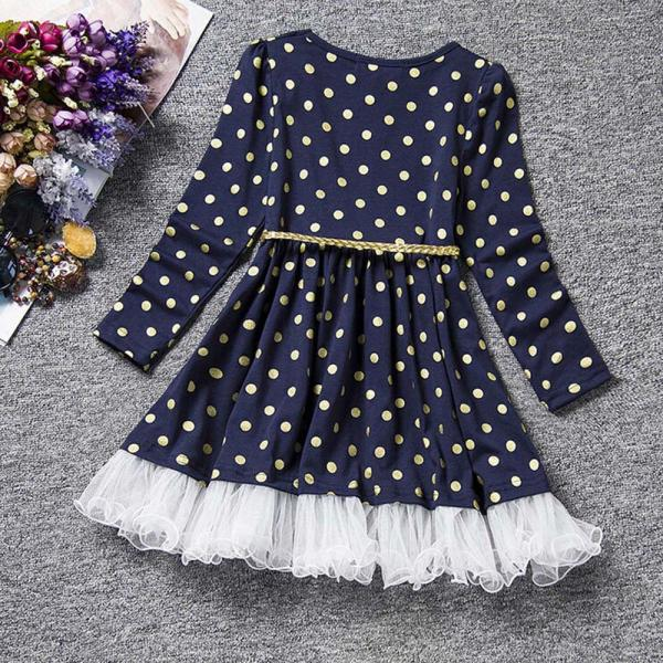 popular style girls dress Dot Lace Party Birthday