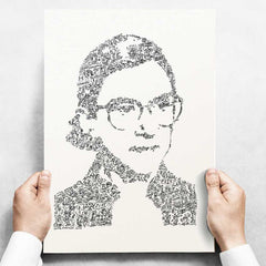 RBG biography : A - Draw My Life - Ruth Bader Ginsburg portrait