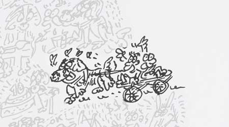 20-bernese-durrhbachler-pulling-cart-with-kids-in-it-hand-drawing