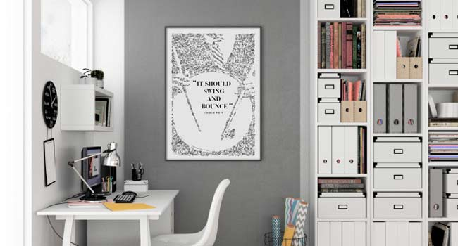 it should swing and bounce print charlie watts drummer quote