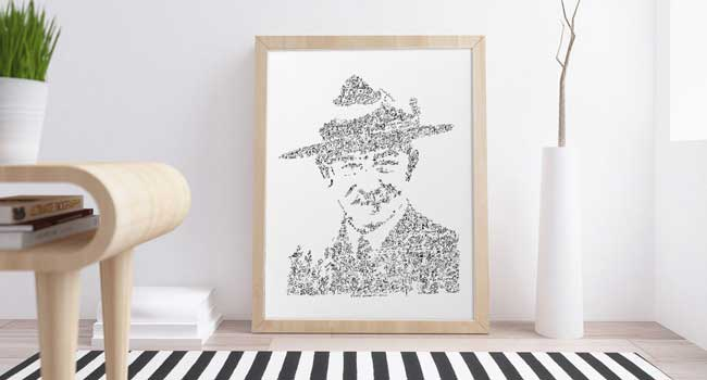 lord baden powell art print great living room picture