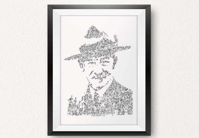 lord-baden-powell-doodle fun facts drawing by ink