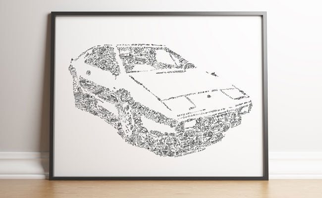 lotus esprit s1 wet nellie art print