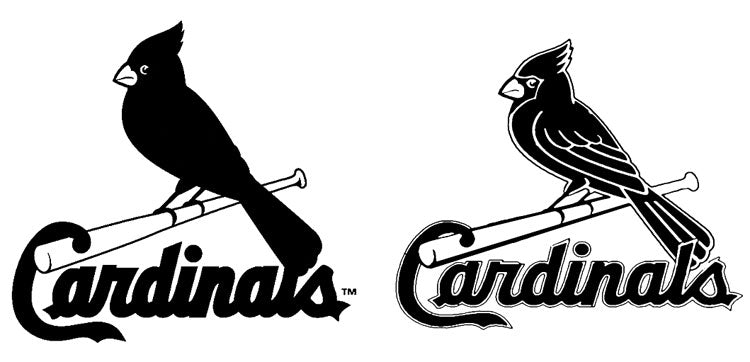 cardinals logo in black and white