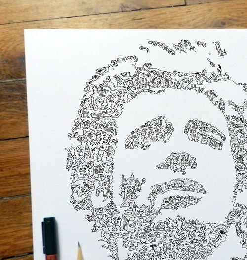 Bruce Springsteen the boss doodle drawing