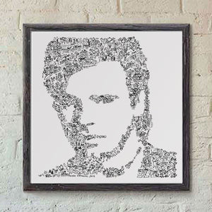 MacGyver square black and white print