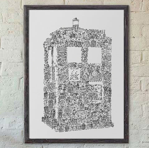 Tardis time machine print