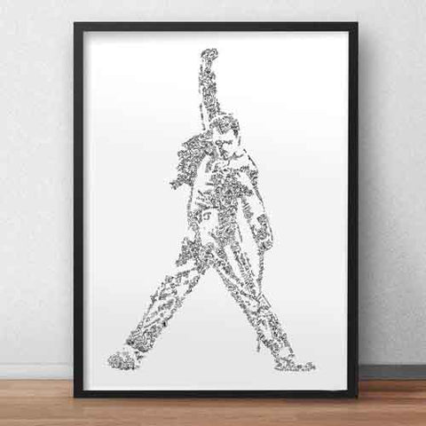 freddie mercury art print hard to find gift for true fans of queen