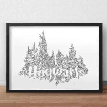 hogwarts print perfect harry potter fan gift