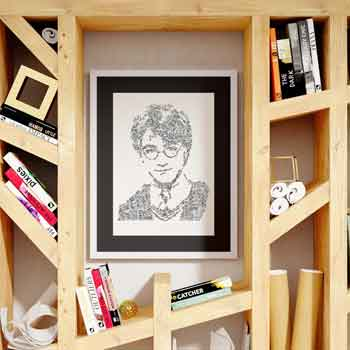 harry potter art print ink drawing doodles