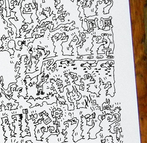 guernica doodle drawing comics of pablo picasso