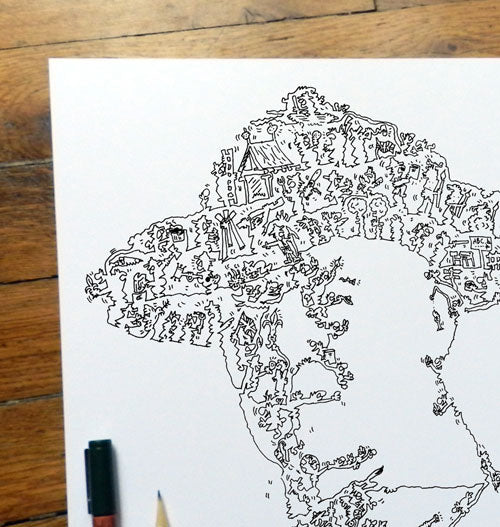 baden powell doodle drawing ink