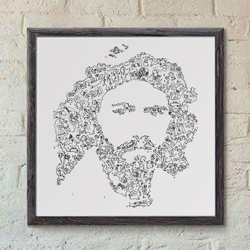 Barry Gibb print from the Bee Gees