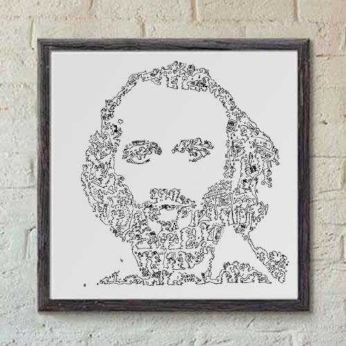 Maurice Gibb drawing print, ink on paper