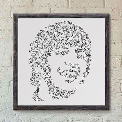 Ringo Star print with doodles