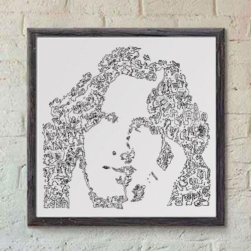 Oscar Wilde literature art print
