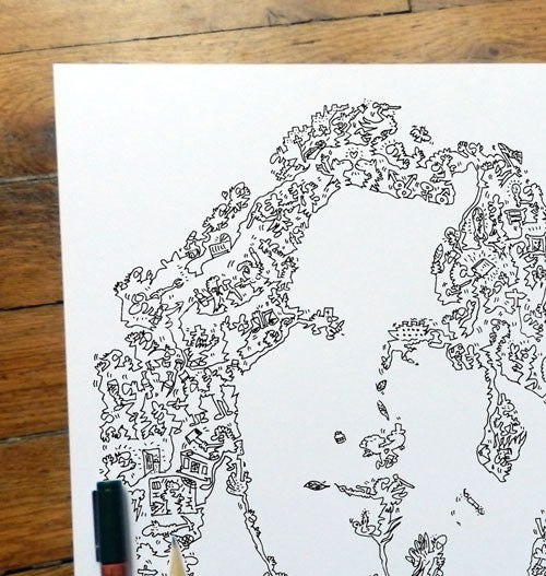 Oscar Wilde continuous line drawing