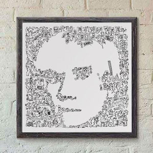 Andy Warhol print from a ink drawing