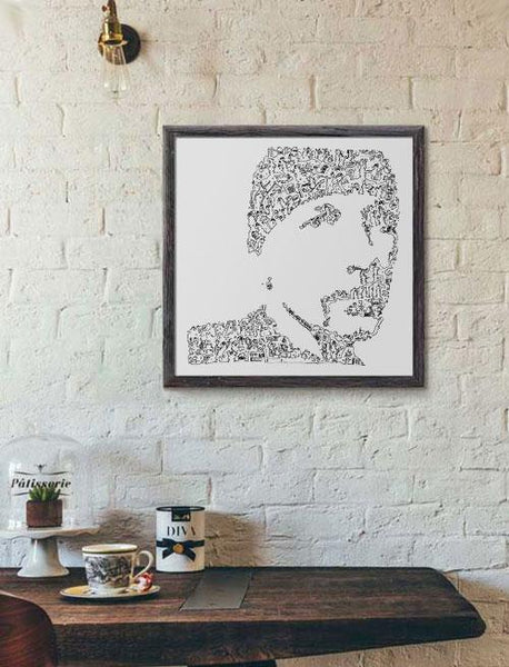 The Edge poster of david evans from u2
