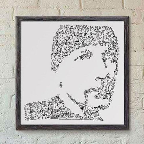 The Edge print from u2 irish band