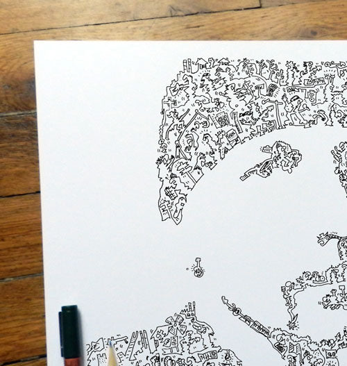 the edge doodle drawing inside picture