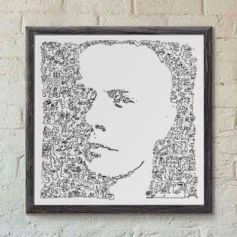 Larry mullen jr print
