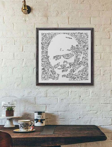 Karol Wojtyla poster ink drawing