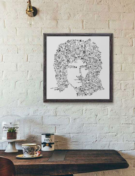 Brian May poster of the guitarist of Queen band