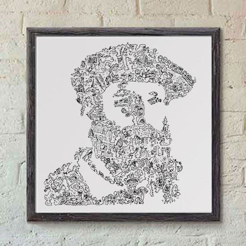 Claude Monet black and white print