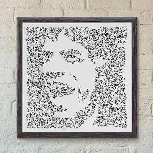 Mick Jagger black and white print of the singer of the Rolling stones