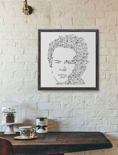 Art Garfunkel black and white print by drawinside