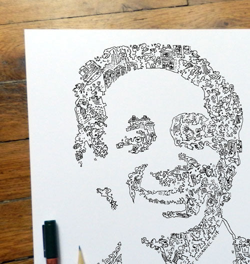 Harvey Milk ink drawing