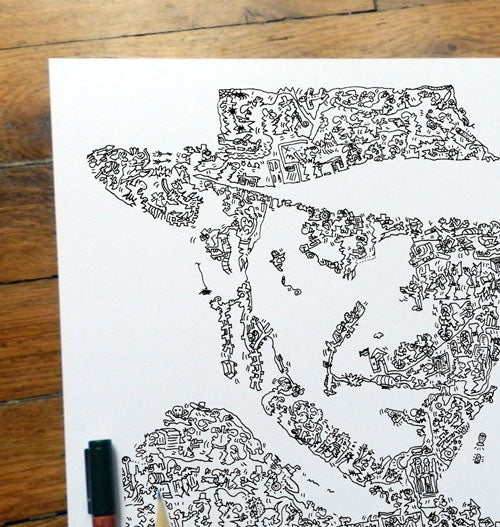 Indiana Jones doodle art poster