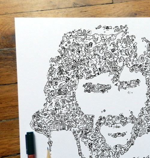 George Best doodle artwork by drawinside