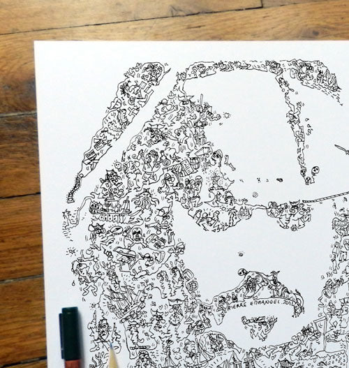 jack Sparrow doodle ink drawing by drawinside