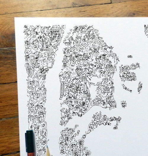 Gandalf portrait made of doodles and magic