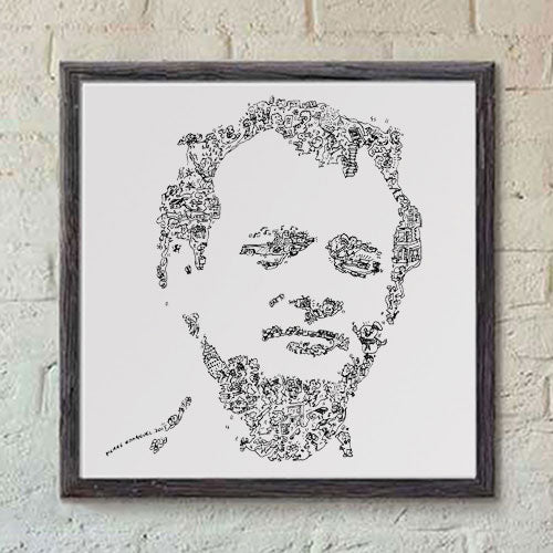 Bill Murray print in ghostbusters