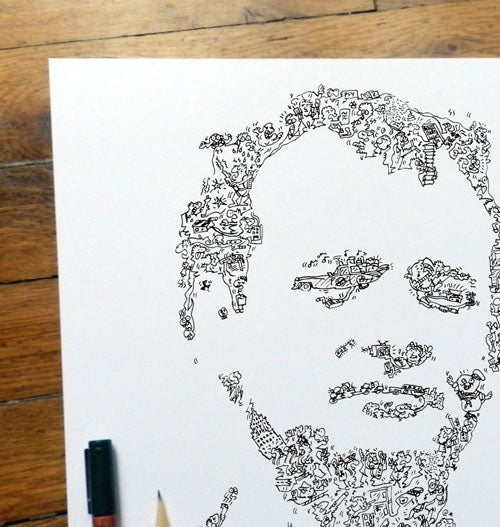 bill murray ghostbuster doodle artwork ink drawing