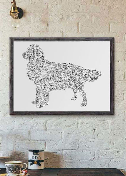 Golden Retriever breed print