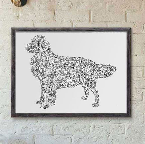 Golden Retriever hard to find gift poster