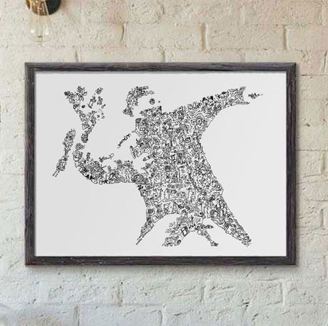 Flower Thrower print by Banksy