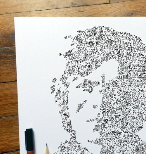 tyrion lannister intricate doodle art by drawinside