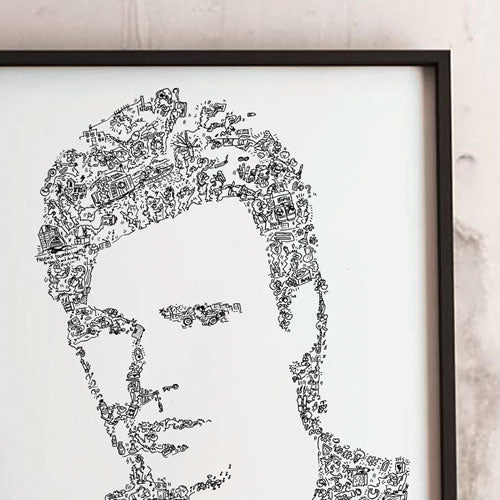 MacGyver doodle art with DIY details inside by drawinside