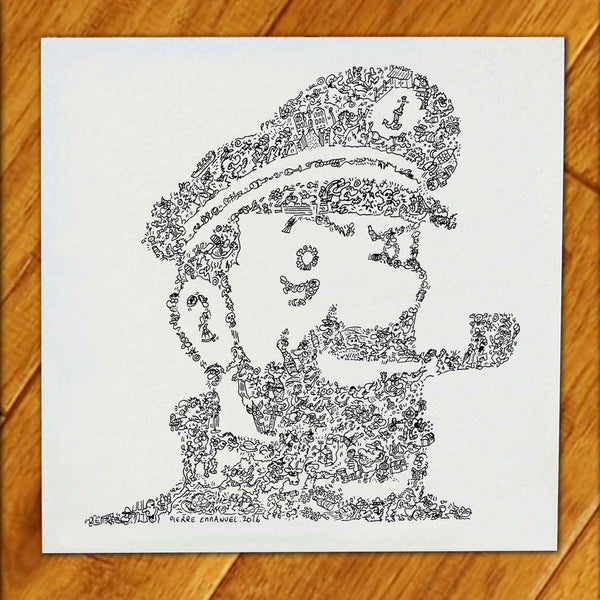 Captain Haddock biography face drawing hard to find gift